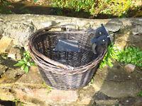 Nice wooden bicycle basket
