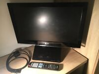 LG TV 22 inch with Built-in DVD Player