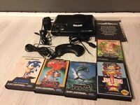 Sega mega drive console and games bundle
