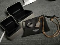 Men's Armani Chain And Ring Swap