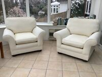 FREE - Two High Quality Armchairs for Upholstery Project - Sun Damaged and Water Stained