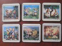 Complete Set of 6 Collectable M J Hummel Coasters Pimpernel
