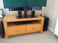 Solid Oak Corner TV Unit - BARGAIN!