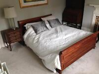 Beautiful Bed+Mattress+Side table for sale