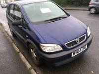 7 Seater Vauxhall Zafira 1.6