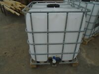 IBC WATER / FUEL 1000 LITRE STORE