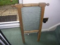 Vintage PINE WASHING BOARD Functional Decorators Piece - Collect NORTHAMPTON