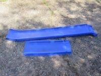 Slide for attaching to a climbing frame