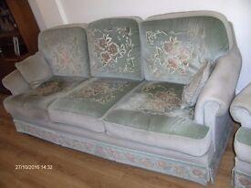 Large Sofa to seat three, plus 2 Armchairs & Stool