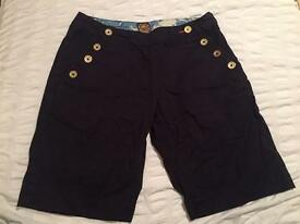 Navy Joules shorts - size 8