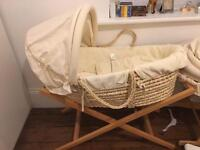 Moses basket with stand (mamas & papas)