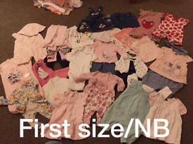 Baby girls snow suits and bundles