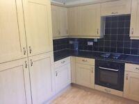 KITCHEN, includes, cooker, fridge freezer, sink unit, cupboards and worktop