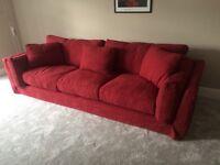 Roche-Bobois 'preference' Sofa in raspberry