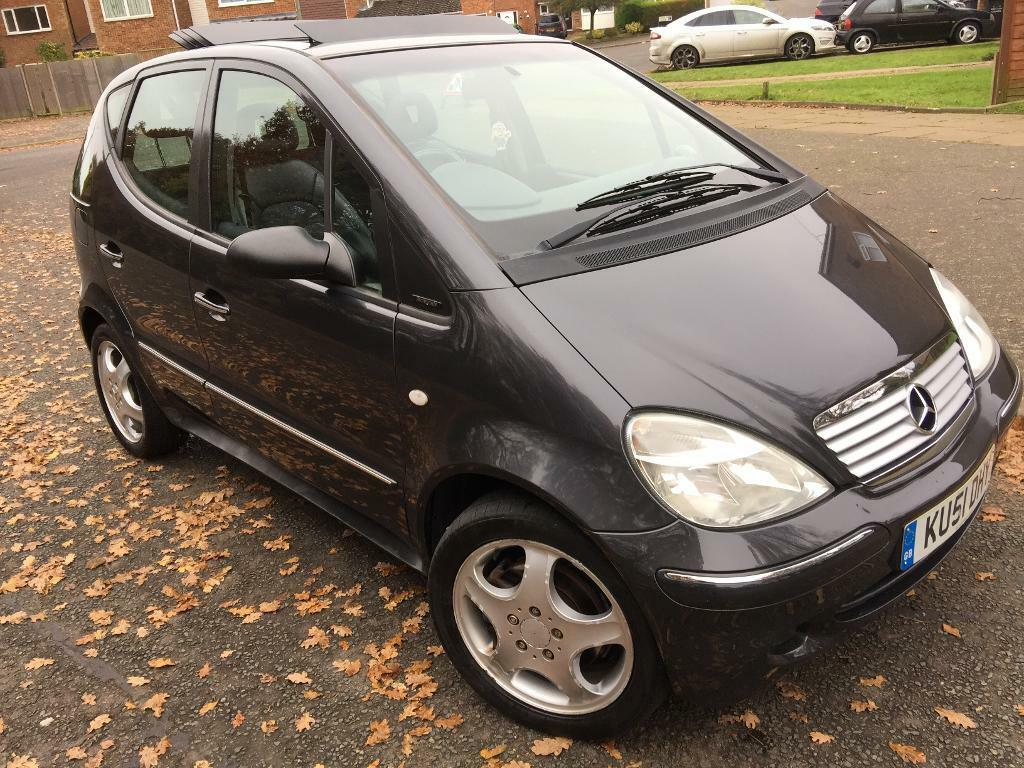 Mercedes A190 avantgarde 2001, black, 5 speed manual, 5 door hatch, mot Aug 2017 & taxed