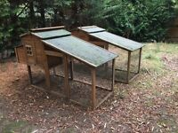 Chicken hutch X2 chicken run, coop, enclosure