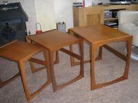 G Plan 1960s Vintage Quadrille Nest of Tables