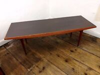 Vintage Mid Century 1960's teak wooden Gordon Russell rectangular coffee table