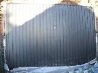 Garage Door Metal Up and Over, Brand New, Black