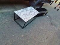 Very nice coffee table and black glass tv cabnit £20 a piece