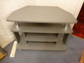 TV display stand silver colour, excellent condition