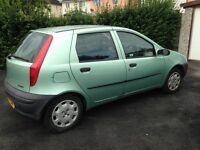 Fiat Punto 1.2 01 Plate - No MOT as of June