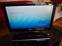 Television with DVD player