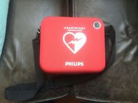 Philips HS1 Defibrillator AED, new battery, 5 years warranty