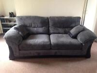 Great quality soft chord 3 seater sofa