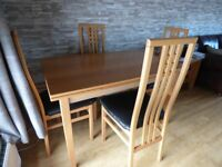 Dining Table and Four Chairs (Italian made by ims srl)