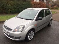FIESTA 1.25 STYLE 5 DOOR 06 REG IN SILVER WITH FULL HISTORY ,CAMBELT CHANGE,MOT AUGUST, 07867955762