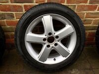 "Complete set 16"" Mercedes B Class (T 245, 2005–2011) Original Mercedes Alloys w/ Winter Tyres"