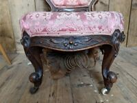 VICTORIAN chair nursing decorative project upcycle antique gplanera