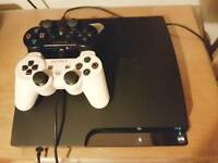 PLAYSTATION 3 SLIM with Original controller and wires