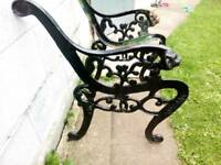 CAST IRON LION HEADED BENCH END'S