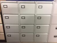 Filing Cabinet, 4 Drawer. In Grey. Good Condition! 9 In Stock!