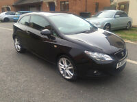 2010 SEAT IBIZA CR SPORT TDI BLACK (Low Road Tax Cost)*