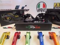 Motorcycle Adjustable Brake & Clutch Levers Strada 7 Racing- Hundreds of Bikes models