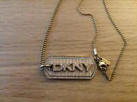 Ladies DKNY dog tag necklace and matching ring