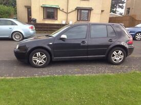 Black GOLF GTI 1.8 Y reg. MOT'd till April 2018