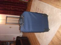 Large wheeled suitcase, navy blue, used once & good as new