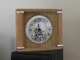 Mantel Clock - oak finish - John Lewis