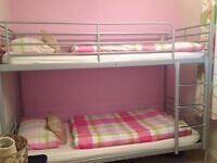 Silver/grey bunk beds