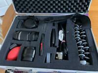 Canon DSLR Camera & extras