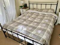 King size metal bed frame and mattress