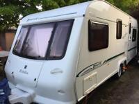 Elddis Avante 630 6 berth caravan, fixed bunks, twin axle, with extras