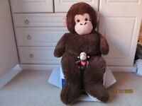 Big Cuddle monkey & friend