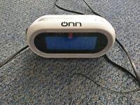 ONN Radio Alarm Clock LED Digital Display