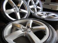 19inch GENUINE S LINE TWIST audi A8 A5 b8 ronal 5x112 alloys wheels vw golf mk5 caddy a3 t4 t3