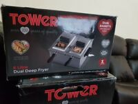 Tower fryer 6liter duel deep fryer